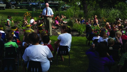 Thanks in part to BTG, Children's School Sensory Garden fosters students' love of nature