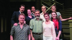 "CTC alums taking part in ""The Merchant of Venice."" Top Row: Ethan McSweeny, Bonnie Brady, Steven Cahill, Matt Carlson, Liz Wisan. Bottom Row: Daniel Pearce, Mark Nelson, Deena Burke, Amelia Pedlow. Submitted photo."