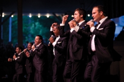 Straight No Chaser performs in the Ampihtheater on August 5, 2011.