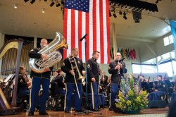The U.S. Army Field Band & Soldiers' Chorus perform in the Amphitheater in 2011. Daily file photo