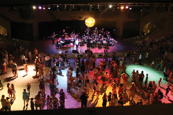 Chautauquans of all ages turn out to dance the night away during the last Amphitheater Ball in 2009. Daily file photo.