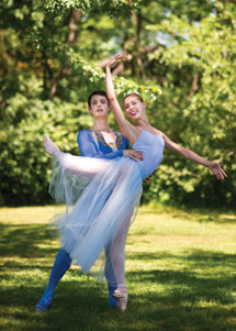 Festival students perform Balanchine's Serenade tonight in the Amphitheater