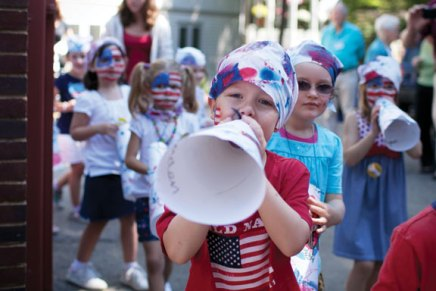 Children's School goes on parade to celebrate Independence Day