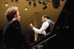 "Guest soloist Alexander Schimpf performed Beethoven's Piano Concerto No. 2 in a Chautauqua Symphony Orchestra performance led by guest conductor Andrew Grams. Grams also guided the CSO in Stravinsky's Concerto in D and Bartók's ""Concerto for Orchestra."""