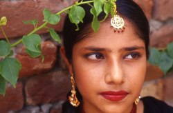 Girl in Traditional Jewelry-  