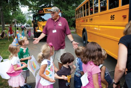 Institution's friendly transportation staff, led by Nelson, works to move Chautauquans young and old where they need to go