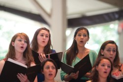 New York State Summer School of the Arts students sing during the group's 2011 Amp performance. Daily file photo.