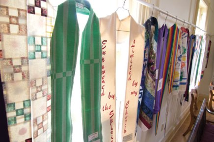 Showers of Stoles exhibit reflects faith journeys of LGBTclergy