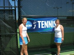 Jenna and Meghan Raynor have played tennis together for the majority of their lives. After playing at Chautauqua Lake Central School, the sisters played at Mercyhurst University in Pennsylvania and have spent several summers working at the Chautauqua Tennis Center. Submitted photo.