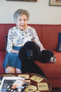 Eleanor B. Franks with her granddogs. Photo by Lauren Rock.