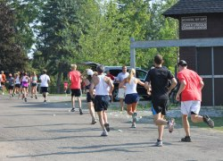 Chautauquans participate in the annual Old First Night Run on Saturday morning, August 4.