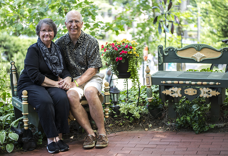 Debbie and Bill Currin have volunteered for the Chautauqua Fund for 10 years. Half of that time has been spent as team captains. (Bria Granville | Staff Photographer)