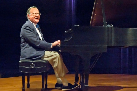 Instrument of jest: Russell tickles ivories and funny bones in popular political humor act
