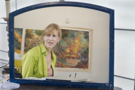 VACI lecturer Heffernan paints landscapes in environmentalupheaval