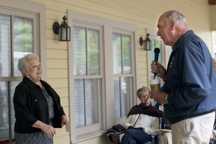Babcock shares vision of lifelong learning at porchdiscussion