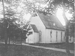 Courtesy of chautauqua Institution ArchivesThe Methodist Chapel, built in 1877 and more commonly known as the Old Chapel, was the first permanent building erected at Chautauqua intended for year-round use.