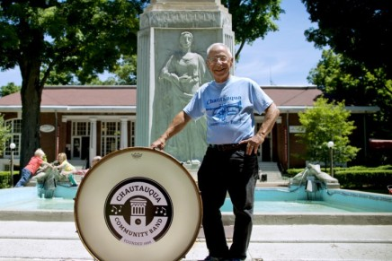 Old drum beats new path for Chautauqua CommunityBand