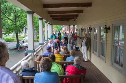 President Becker updates strategic planning initiatives at porch discussion