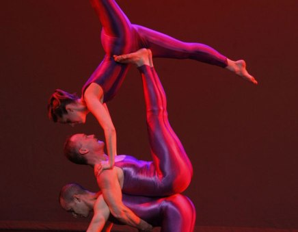 Galumphing back: Acrobatic dance company brings act for all ages to Amp stage tonight