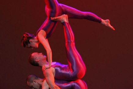 Galumphing back: Acrobatic dance company brings act for all ages to Amp stagetonight