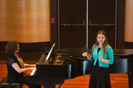 Voice students present personal selections at recital