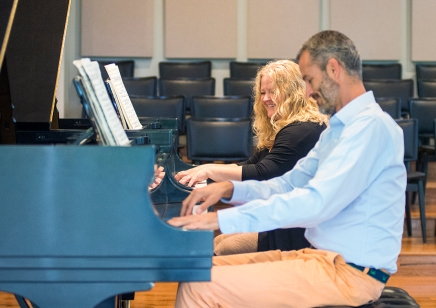 It takes two: Piano Program chairs take the stage
