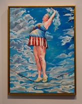 """Presenting the Patriotic Pregnant Lady"" by Candice Flewharty."