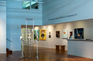 The 57th Chautauqua Annual Exhibition of Contemporary Art is showcased in the Strohl Art Center Main Gallery.