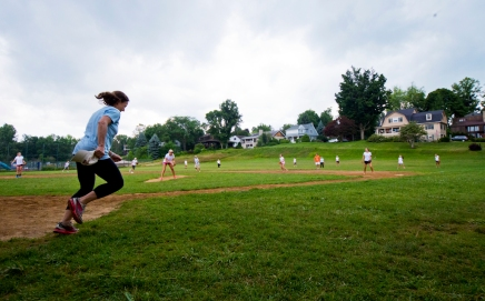 Mother-daughter softball game showcases friendly competition