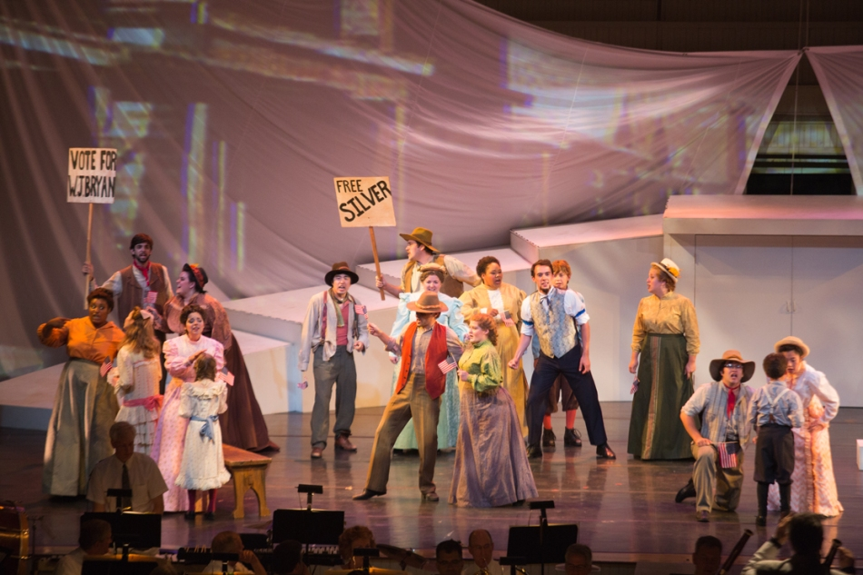 Review: Versatile acting troupe keeps 'Go West!' on track through some missteps