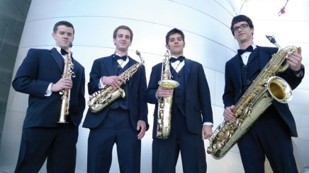 Speed metal meets saxophone in chamber music performance