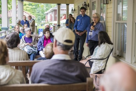 Babcock talks Chautauqua's 'lasting educational impact' at porch discussion