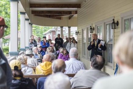 Becker talks Chautauqua's 2015 weekly themes at Trustees Porch Discussion