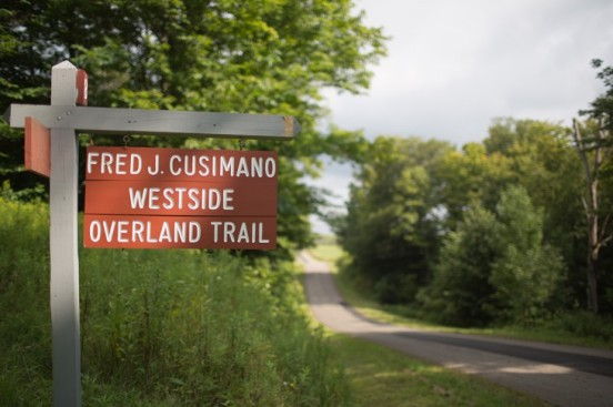 The Fred J. Cusimano Westside Overland Trail crosses Summerdale Road in Mayville.