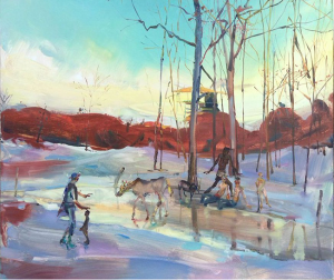 Iceparty (2014), oil on canvas, 24 by 30 inches (Courtesy of angeladufresne.com)