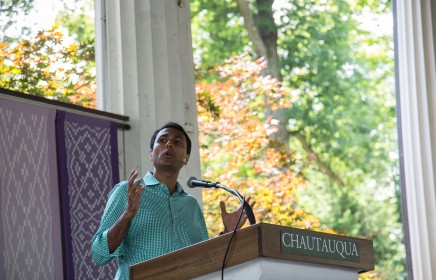 Patel urges interfaith cooperation as American interest