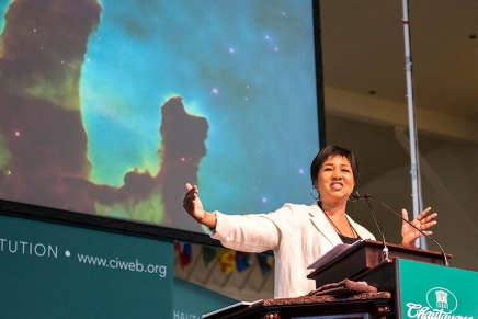 Jemison takes Chautauqua on journey across space and time