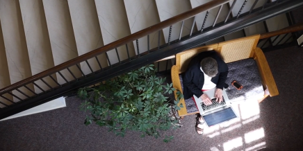 WATCH: Scott Ekstrom takes charge of the Smith Memorial Library