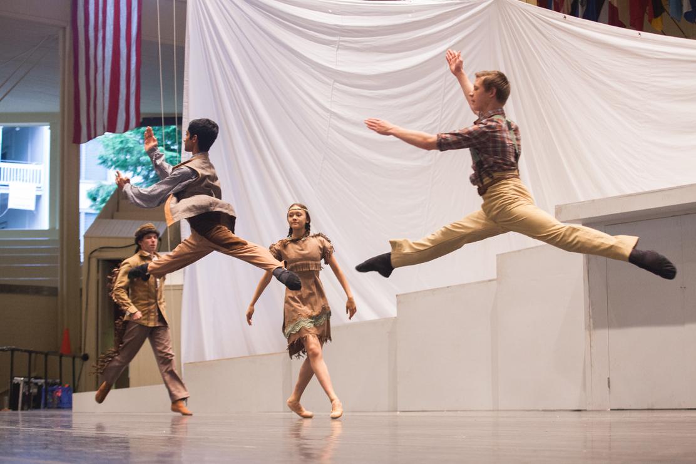 Photo   Matt Burkhartt Members of the Chautauqua Dance Company perform in the dress rehearsal of Go West Wednesday July 23 at the Amphitheater