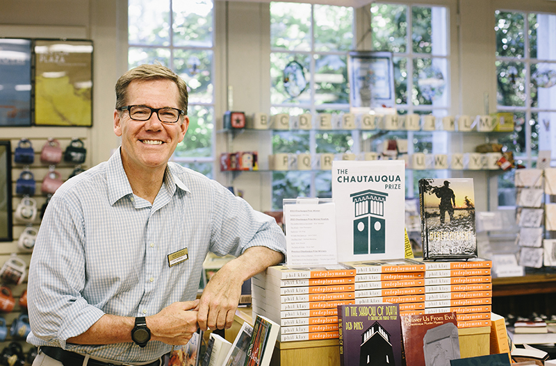 Earl Rothfus, manager of the Chautauqua Bookstore. (Photo by Saalik Khan)
