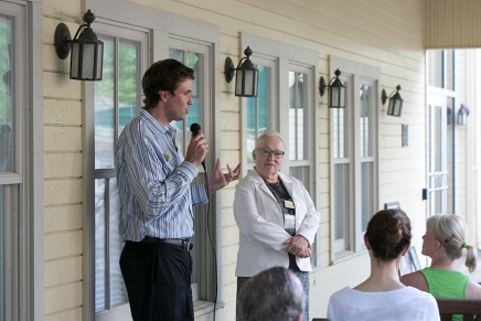 Babcock, Ewalt address education and lifelong learning at Porch Discussion