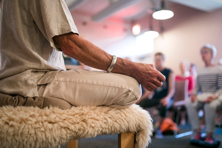 Sit down and be quiet: Khalsa teaches healing powers ofmeditation