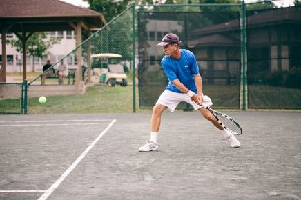 Competitive tennis newcomer Morley takes passion to semi-professional senior circuit