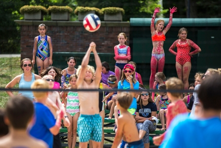 Annual Water Olympics bring greased watermelons and battle of red vs.blue