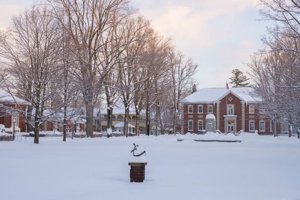 Though the number of patrons making use of its services dwindles significantly in the winter, the Smith Memorial Library becomes a community hub in the off-season. (Photo by Ray Downey | Chautauqua Institution)
